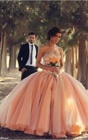 Peach color wedding dresses peach bridal dress dorris wedding pink sexy tulle ball gown wedding dresses 2018 sweetheart vestidos de novia pleated bridal gowns with junglespirit Gallery
