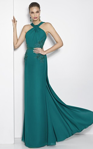 Teal Evening Dress | Teal Formal Dresses - Dorris Wedding