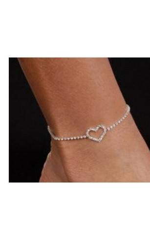 wholesale anklet mix anklets fashion beads heart design product popular for women silver new color jewelry star girl