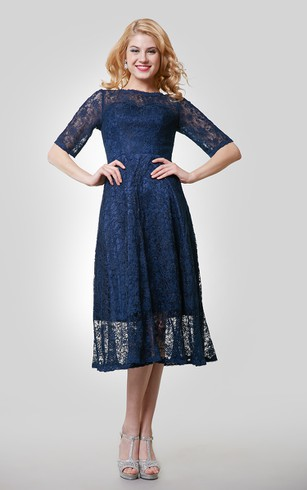 Denim evening dress