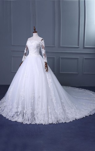1ac5d3e77b ... A-Line Ball Gown Tea-Length Off-The-Shoulder One-Shoulder