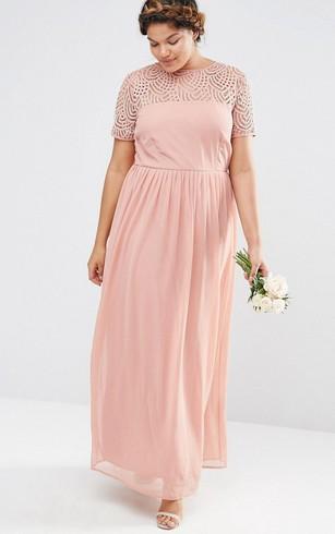 Plus Size Modest Bridesmaid Dresses - Dorris Wedding