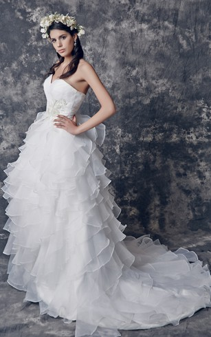 Wedding dress bustle dorris wedding cute sweetheart organza wedding dress with pleats and beading junglespirit Image collections