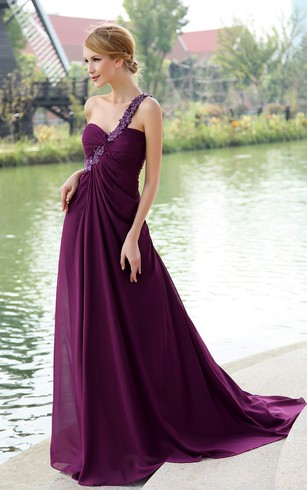 Dark Purple Prom Dresses | Eggplant Prom Dresses - Dorris Wedding