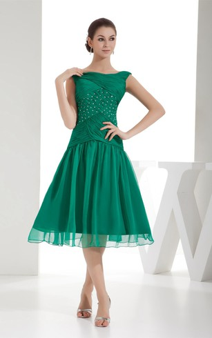 Tea formal Gowns, Mid Length Prom Dresses - Dorris Wedding