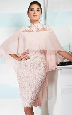 Cheap Pink Formal Dresses | Hot Peach Prom Dress - Dorris Wedding