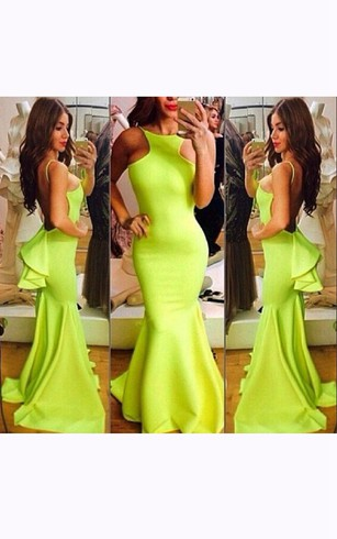 Lime green and yellow bridesmaid dresses
