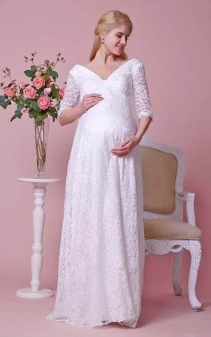 6563e6270f409 Wedding Dress For Pregnant   Maternity Wedding Dresses - Dorris Wedding