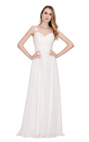 Long White Graduation Dresses Dorris Wedding