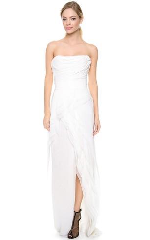 Casual Bridal Dresses | Simple Beach Chiffon Wedding Gowns - Dorris ...