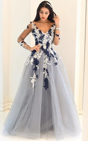 8cefb64daf9064 Lace Formal Dresses With Long Sleeves | Long Illusion Sleeve Evening ...