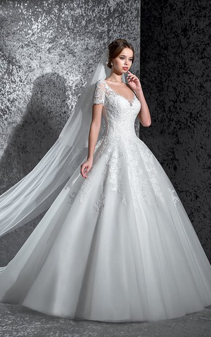 Cheap A-Line Ball Dresses | Princess Wedding Gowns - Dorris Wedding
