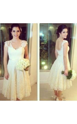 Plus Size Wedding Dresses Knee Length
