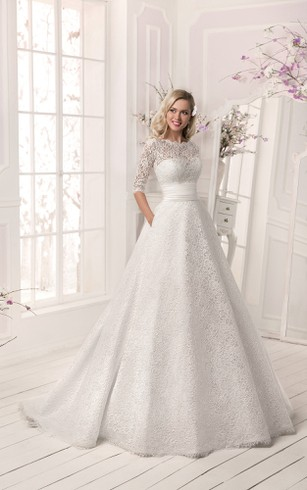 Long sleeved winter bridal dresses satin wedding gowns dorris crystal detailing lace lace up a line dress junglespirit Gallery