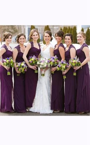 Royal Deep Purple Bridesmaids Dresses Dark Purple Dress For
