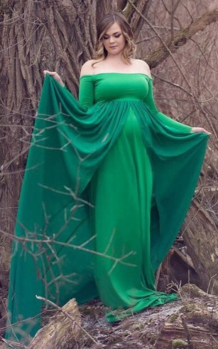 Cheap Long Maternity Dresses | Pregnant Long Evening Dress - Dorris ...