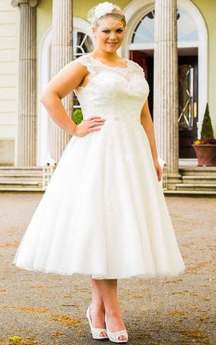 Plus Size Short Wedding Dresses for Brides in All Sizes - Dorris Wedding