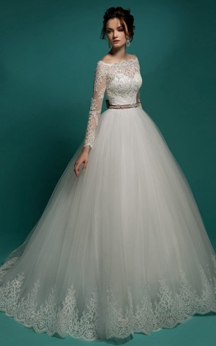 Sleeved Bridal Dresses | Long Sleeves Wedding Dress - Dorris Wedding