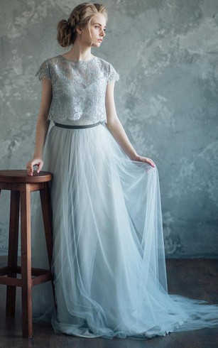 Bluish Gray Wedding Borgia Dress