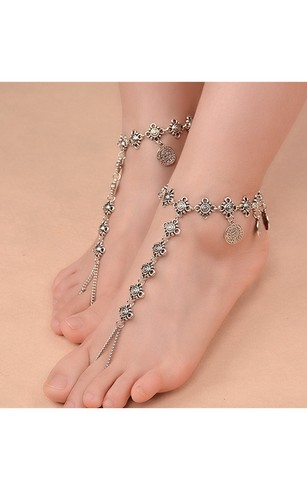 summer product casual silver solid anklet sterling bell zhupeter from girl anklets the jewelry design foot popular chains