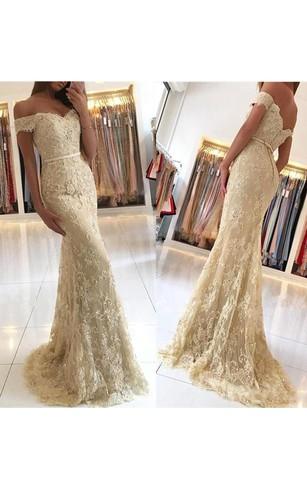 Gold Metallic Formal Dresses | Gold Sequined Prom Dress - Dorris Wedding