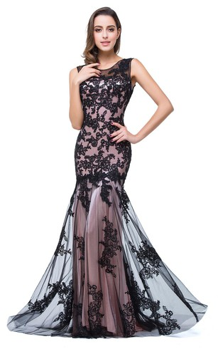 Mermaid Prom Gowns | Cheap Black Fishtail Mermaid Dresses - Dorris ...