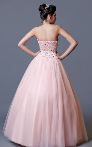 Fashionable Sweetheart Ballgown With Sequined Top