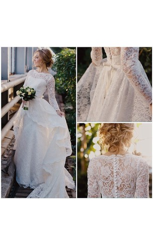 Long Sleeve Wedding Dresses On Sale