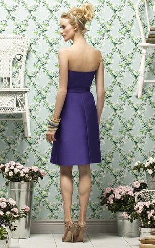 Strapless Simple Short Dress With Zipper Back