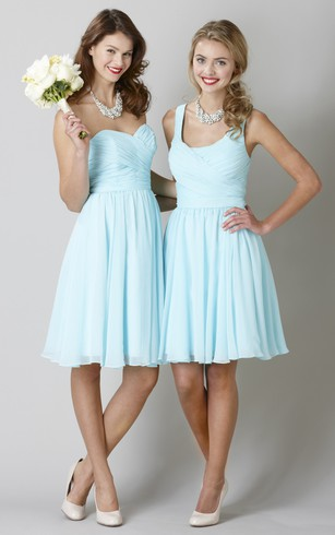 Short Bridesmaids Dresses | Mid-Length Bridesmaid Gowns - Dorris Wedding