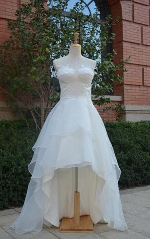 Cheap Organza Ball Gown Bridal Dresses | Organza Ruffled Wedding ...