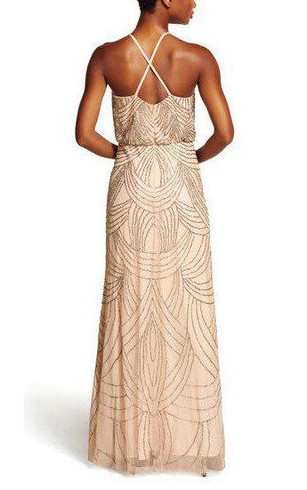 Rose metallic bridesmaid gown gold sequin bridesmaid dresses spaghetti straps art deco floor length bridemaid dress junglespirit Image collections