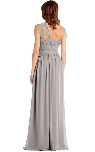 dc9435f93a ... Floor-Length One-Shoulder Ruched Sleeveless Chiffon Muti-Color  Convertible Bridesmaid Dress