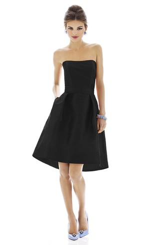 Short Black Bridesmaid Dresses | Free Swatches - Dorris Wedding