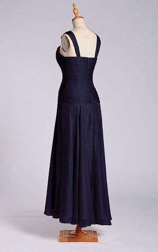 Amazing A Line Tea Length Dress With Dropped Waist