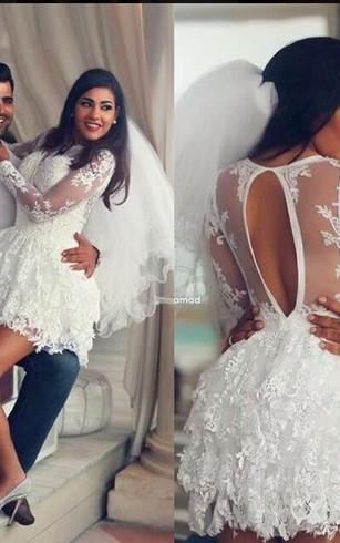 sexy short lace wedding dresses
