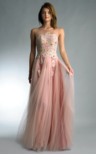 Pink and Gold Evening Dresses