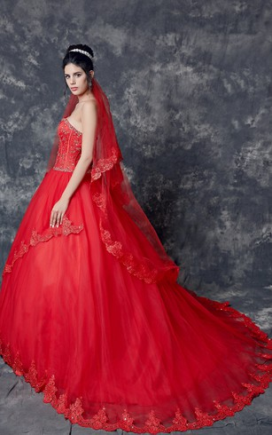 Red wedding dress pic