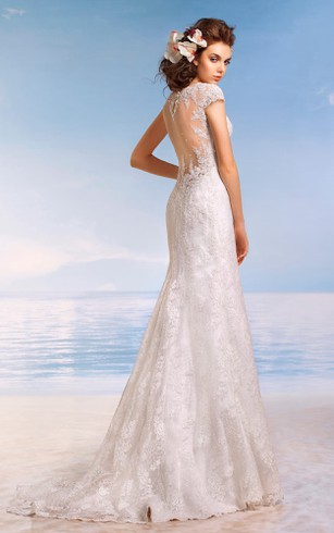 Sheath Bridal Dresses | Cheap Column Wedding Gown - Dorris Wedding