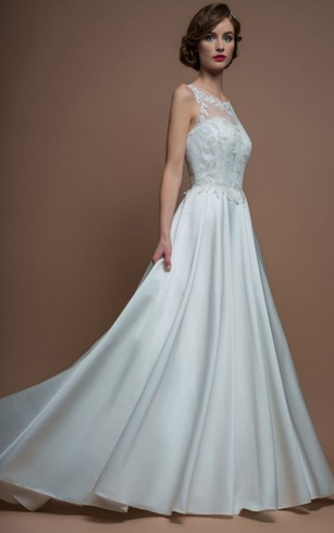 Satin Bridal Dresses | Satin Aline Wedding Dress - Dorris Wedding