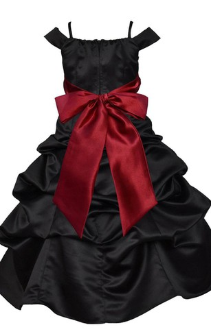 Off-shoulder A-line Ruffled Dress With Bow