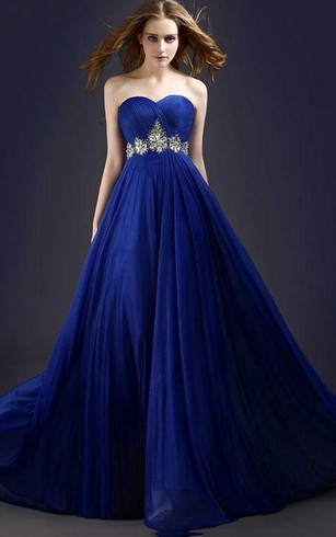 Stunning A Line Sweetheart Beading Long Prom Dress