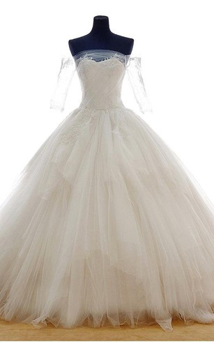Tulle A-Line Sweetheart Sleeveless Dress With Lace-Up Back