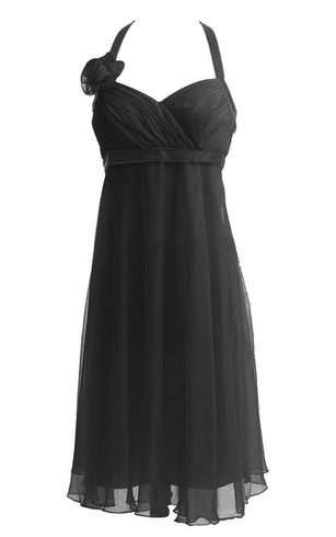 A line black cocktail dress