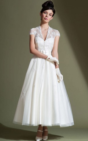 Short Length Wedding Dress For Old Brides Older Woman Short Bridal