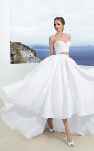 Hi-Low Wedding Dress, High-Lo Bidals Dresses - Dorris Wedding