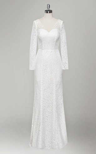 lace bridal dress with long sleeves lace sleeve wedding gowns