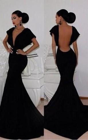 Black Mermaid Prom Dress