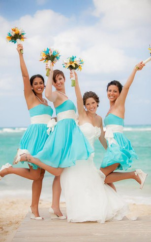 Long Chiffon Beach Bridesmaids Dresses | Beachy Bridesmaid Dress ...
