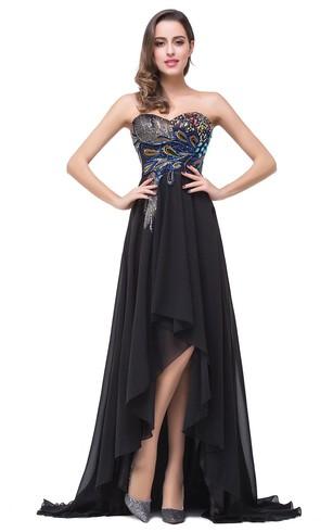 Mid Length Black Prom Dresses